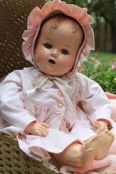 """18"""" Miracle on 34th Street Baby Doll, Composition and cloth, antique, vintage"""