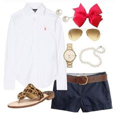 I love everything about this outfit!  #preppy #outfit