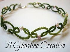 Choker Ivy handmade tatting cotton necklace and pearls. Girocollo Edera handmade in pizzo chiacchierino e perline. via Etsy by Summerrain