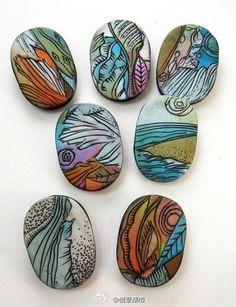 很有意思的石头彩绘~~! |转