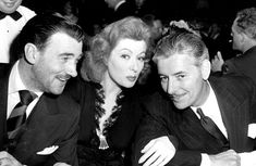 Greer Garson with Walter Pidgeon and Ronald Colman at the Academy Awards … March 4, 1943