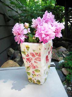 Mosaic+Vase+#howto+#tutorial