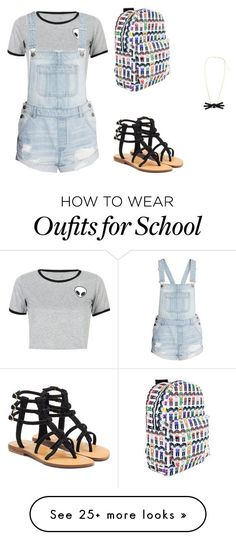 """""""school outfit"""" by ravenishere on Polyvore featuring WithChic and Mystique"""