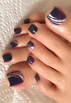 Best Toe Nail Designs und Bilder für Summer - Fashion Best Toe Nail Designs und Bilder für Summer - Fashion - The Best Nail Art Designs Compilation. 40 exciting ideas for new years nails to warm up your holiday mood page 10 Pretty Toe Nails, Cute Toe Nails, Pretty Toes, Toe Nail Art, Toe Nails Red, Blue Nail, Hair And Nails, My Nails, Jamberry Nails