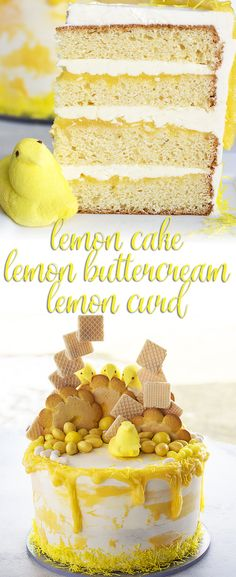 Bright, lemony, sweet goodness just in time for spring and Easter! Get this easy and impressive recipe for lemon cake, lemon curd, and lemon buttercream for your next party! via @karascakes