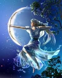 Artemis is the Greek Goddess of the Hunt, the Wild (animals and their habitats), of childbirth, of young women (maidens only), the moon, and childbirth and nursing (especially of girls). Her sacred animals are the stag, the bear, and the board. Her sacred plants are the cypress, the walnut tree, and amaranth plant.