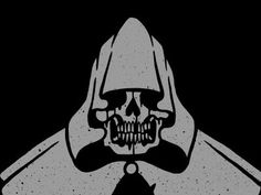 Dribbble - cloaked. by Craig Robson #illustration #vector #reaper