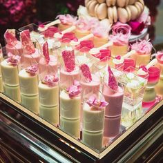 Unique Wedding Catering Ideas for the Big Day – MyPerfectWedding Dessert Shots, Dessert Bars, Dessert Table, Mini Desserts, Party Desserts, Mini Dessert Cups, Candy Table, Candy Buffet, Do It Yourself Wedding