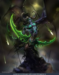 Illidan Stormrage - World of Warcraft Fanart by jiangxiaoguang (晓光)