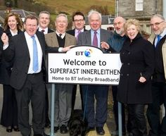 Innerleithen is one of areas to win superfast broadband from BT