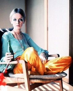 Twiggy - I love the orange pants!