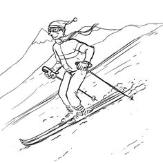 JUST AWAY Illustration for our category 'Wintersporters' #travel by #inspiration