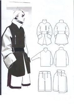 Fashion Sketchbook - fashion illustration & fashion design flats; fashion portfolio layout // Andrew Voss