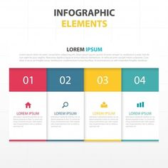 Infographics with four colors Free Vector Infographic Template Powerpoint, Powerpoint Presentation Templates, Diagram Design, Leaflet Design, Graphic Design Lessons, Web Design, Visualisation, Flyer Layout, Article Design