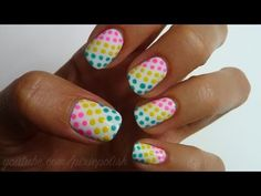 Love this one. I did it myself and it turned out pretty!!!!! Love that you can use acrylic paint on your nails. A SHARPIE also comes in handy for doing watermelon seeds on your nails....