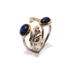 Ring mit Spectrolite Gemstone Rings, Gemstones, Jewellery, Sapphire, Gold Paint, Beads, Stones, Silver, Ring