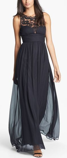 Aidan Mattox Embellished Lace & Silk Chiffon Gown (Online Only) Bridesmaid Dresses, Prom Dresses, Formal Dresses, Dress Prom, Bridesmaids, Image Mode, Beauty And Fashion, Lace Silk, Gowns Online