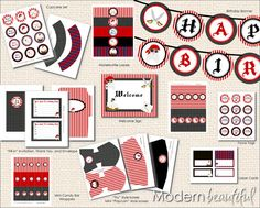 Printable Party Package Boy Pirate Party by ModernBeautiful, $15.00