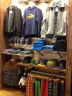 Hobie-surf-shop-san-clemente-del-mar-I-want-to-live-in-the-patagonia-display Visit the post for more. Clothing Store Interior, Clothing Store Displays, Clothing Store Design, Boutique Decor, Boutique Interior, Mode Choc, Surf Store, Urban Shop, Store Layout