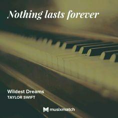 Taylor Swift - Wildest Dream Musixmatch LyricsCard