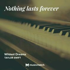 Taylor Swift - Wildest Dream Musixmatch LyricsCard