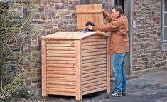 Holz-Mülltonnenbox