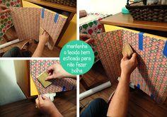 Blog Remobília - Repaginando aparador com tecido adesivo faça você mesmo com passo a passo