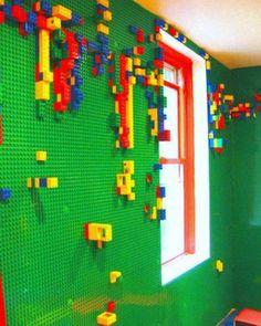 Create a lego or hot wheels wall