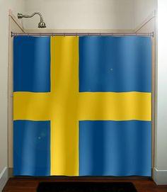 Items similar to Sweden flag shower curtain bathroom decor fabric kids bath window curtains panels bathmat valance on Etsy Sweden Flag, Flag Decor, Kids Bath, Powder Rooms, Bathroom Shower Curtains, Fabric Decor, Genealogy, Flags, Bathroom Ideas