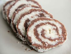 Linzers and No Bake Swirl Log