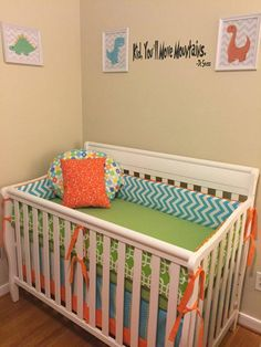 Amber's cute nursery featuring custom baby bedding from Miss Polly's Piece Goods~~ https://www.etsy.com/listing/153258176/baby-bedding-design-your-own-crib