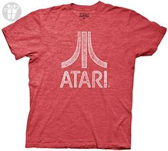 Atari Distressed Logo Adult Red T-Shirt (Adult Small) (*Amazon Partner-Link)