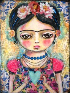 The heart of Frida Kahlo  Art Print