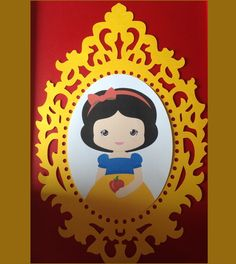 Decoração Branca de neve First Birthday Parties, First Birthdays, Snow Party, Snow White Birthday, Ideas Para Fiestas, Princesas Disney, Art Plastique, Party Themes, Card Making
