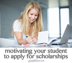 While some students are intrinsically motivated and will search out and apply for scholarships on their own, other students may need a little encouragement in order to accomplish these tasks. Here are ways that you can motivate your child to apply for college scholarships.