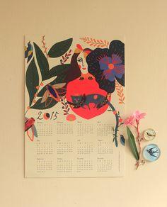 2015 Wall Calendar - jardin de l'amour on Behance