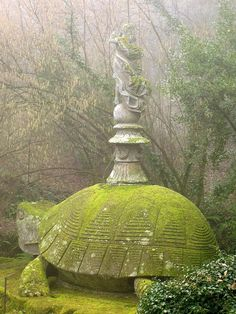 The 16th-century garden of monsters in Bomarzo, Italy.