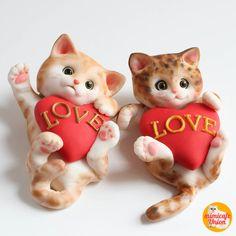 Kitten Fondant Topper Tutorial by mimicafeunion on Etsy
