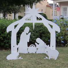 Beautiful Silhouette Style Outdoor Nativity Sets.