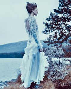 """""""Love is a Letter Sent a Thousand Times"""" Frida Gustavsson photographed by Boe Marion in the mountains of Norway for Scandinavia ..."""