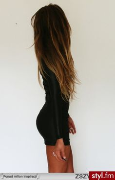 I love that carmel ombre. Sometimes I wish I had dark hair.