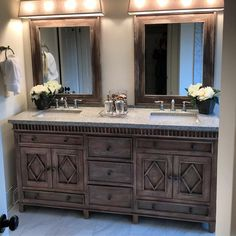 Lancaster Double Sink Vanity available with no top allowing customers to customize with a chosen top and sinks. Master Bathroom Design, Double Vanity Bathroom, Bathroom Decor, Bathroom Top, Vanity, Beautiful Bathrooms, Bathroom Mirror, Bathroom Furniture Vanity, Bathroom Renovations