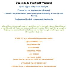 Upper Body Dumbbel Workout upper-body-workout-routines fitness