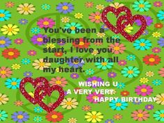 Wish your daughter on her birthday
