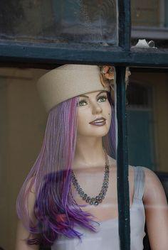 mannequin in a window