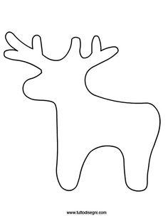 Decori in feltro per natale renne in feltro schema e - Disegni di natale per finestre ...
