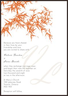 Fall Wedding Invitations Templates Free | examples phrases ...