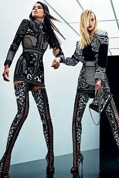 Balmain Spring 2019 Couture Fashion Show - Vogue Fashion Mode, Fashion 2018, Look Fashion, Couture Fashion, Runway Fashion, Fashion Beauty, Fashion Show, Womens Fashion, Fashion Design