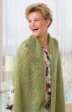 Oversized Scarf Free Knitting Pattern in Red Heart Yarns