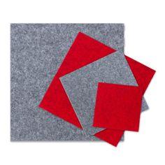 Filzuntersetzer Stern Tischset rot Filztischset Set Tisc Platzmatte 6tlg